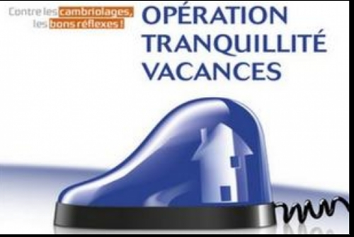 OPERATION TRANQUILLITE VACANCES DE LA GENDARMERIE